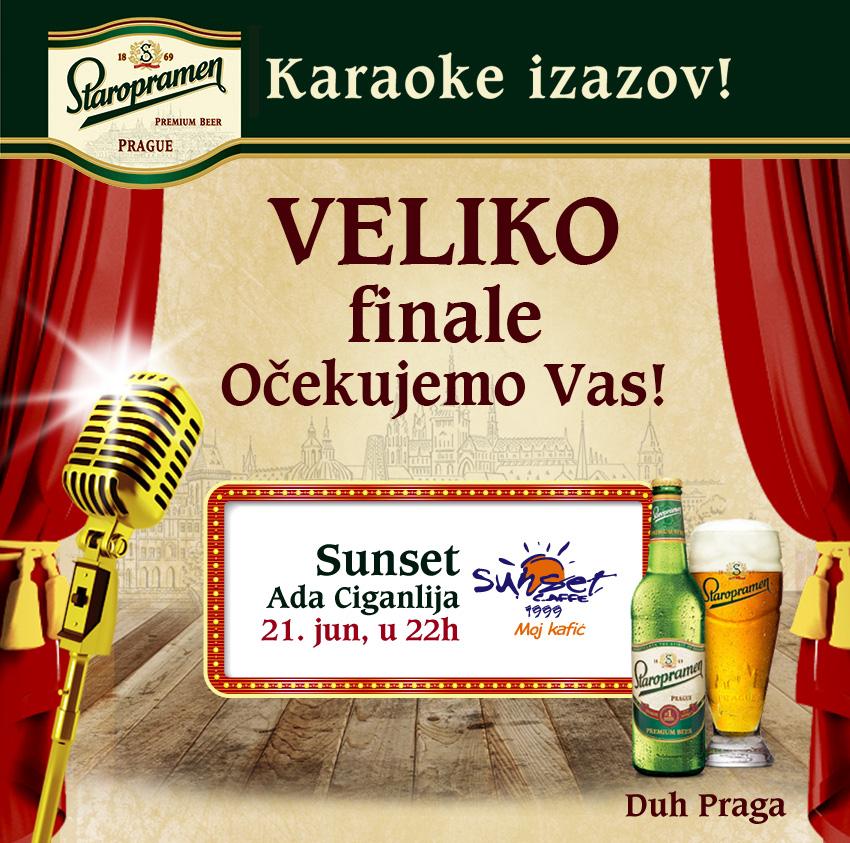karaoke sunset