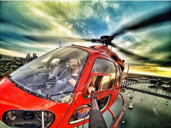 Selfie iz helikoptera