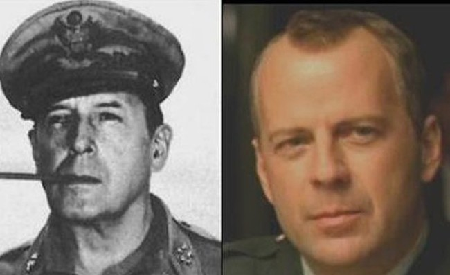 Bruce Willis and WWII General Douglass MacArthur