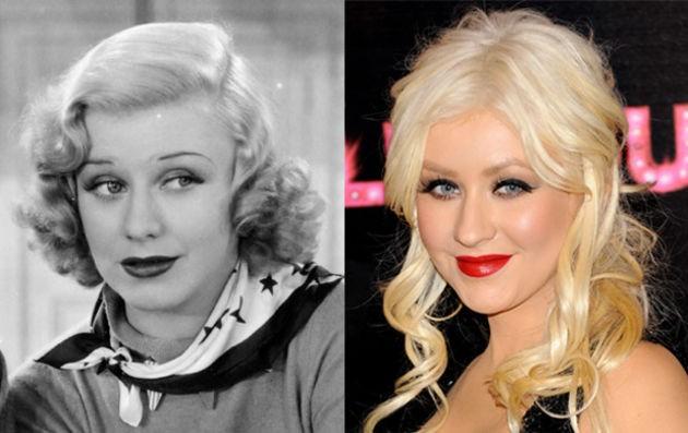 Christina Aguilera and Academy Award winning actress Ginger Rodgers