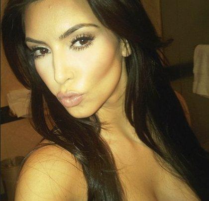 Kim Kardashian's duckface selfie