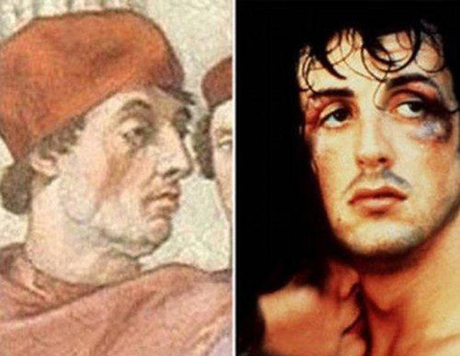 Sylvester Stallone and Pope Gregory IX.