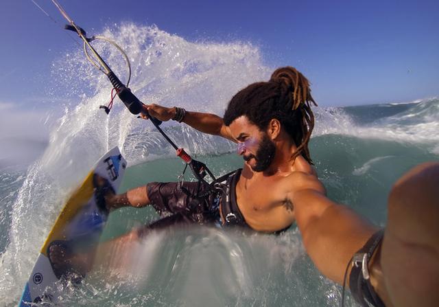 Kajt surfing selfie