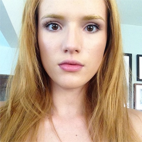 bella-thorne-gold-eyebrows