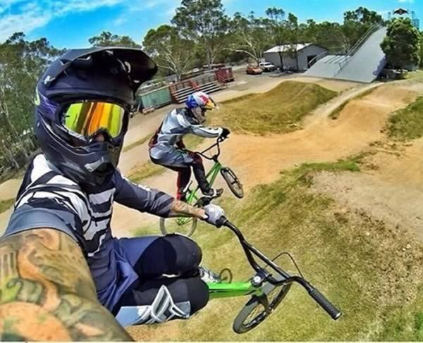 BMX selfie