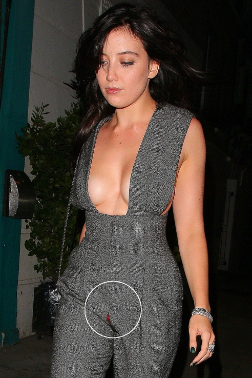 Daisy-Lowe-leaves-the-GQ-after-party-looking-drunk-with-her-boobs-falling-outd