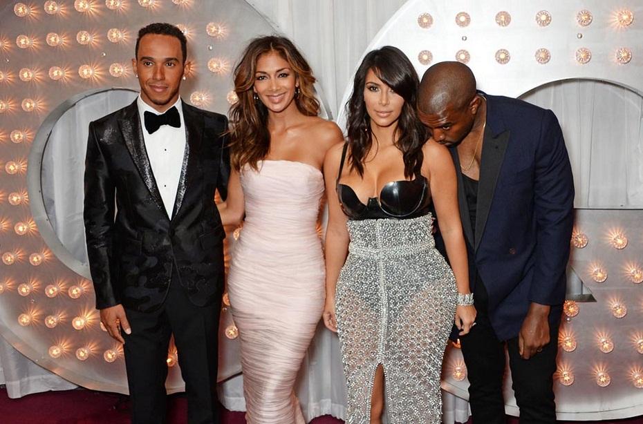 Lewis-Hamilton-Nicole-Scherzinger-Kim-Kardashian-and-Kanye-West