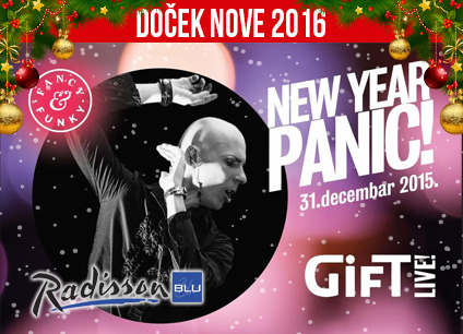 Docek Nove godine 2016 hotel Radisson Blu