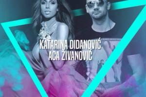 Aca Živanović i Katarina Didanović na splavu River