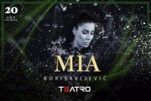 Mia Borisavljević u klubu Teatro večeras