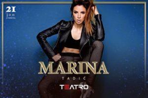 Marina Tadić u klubu Teatro večeras