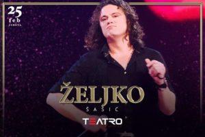 Željko Šašić nastupa u klubu Teatro večeras
