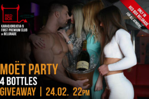 Totalno HOT: Moet Party ovog petka u striptiz klubu Red Box!