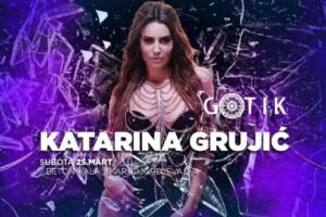 Katarina Grujić u klubu Gotik večeras
