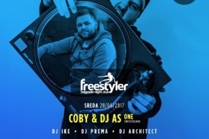 Coby i Dj As One na splavu Freestyler večeras