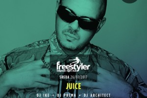 Juice na splavu Freestyler večeras