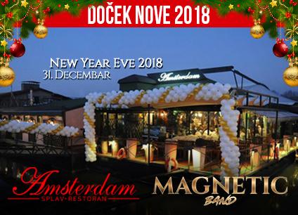 Docek Nove godine Beograd 2018 Restoran Splav Amsterdam