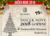 Docek Nove godine Beograd 2018 Restoran Tri Sesira
