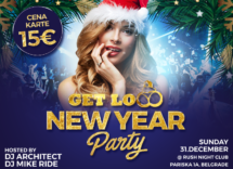 Docek Nove godine Beograd 2018 Klub Rush