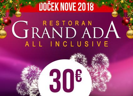 Docek Nove godine Beograd 2018 Restoran Grand Ada