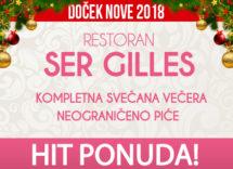 Docek Nove godine Beograd 2018 Restoran Ser Gilles