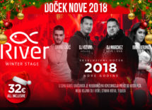 Docek Nove godine Beograd 2018 Splav River