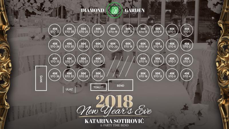 Docek Nove godine 2018 Restoran Diamond Garden
