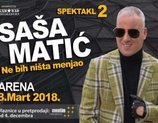 Sasa Matic 8.mart Arena koncert