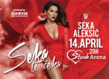 Koncert Seka Aleksic Stark Arena 14. april