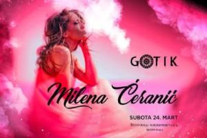 Večeras u klubu Gotik gostuje Milena Ćeranić – spremite se za SHOW!