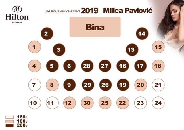 Docek Nove godine Beograd 2019 Hotel Hilton