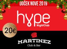 Docek Nove godine 2019 Klub Hype