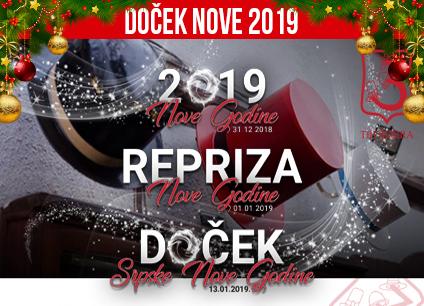 Docek Nove godine Beograd 2019 Restoran Tri Sesira
