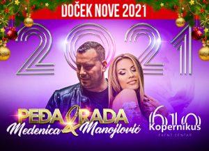 Doček Nove godine Beograd 2021 splav Kopernikus 6 10 Event Center
