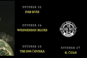 Fenomenalan provod vas očekuje ove sedmice u Rob Roy bar-u!