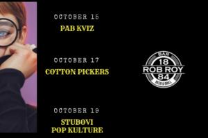 Vrhunski provod vas očekuje u Rob Roy bar-u!