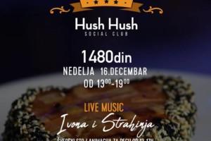 Hush Hush ponovo organizuje nedeljni family brunch: Live music Ivona i Strahinja!