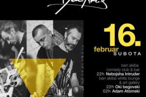 Nebojša Intruder, Adam Atomski i Oki Begovski ove subote u klubu Ben Akiba