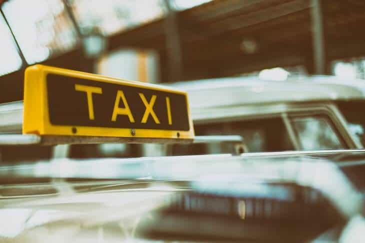 Znak taxi vozila