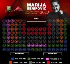 Docek Nove godine 2020 Beograd Belexpo centar mapa nova