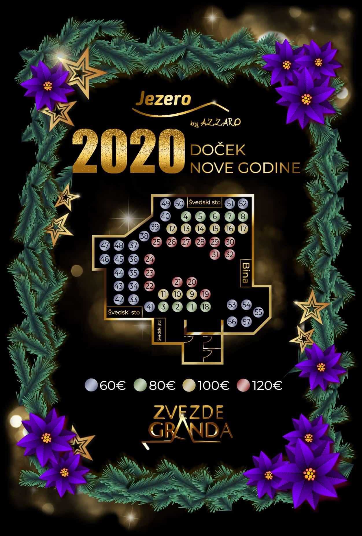 Docek Nove godine 2020 Beograd Restoran Jezero by Azzaro Ada Ciganlija mapa 1