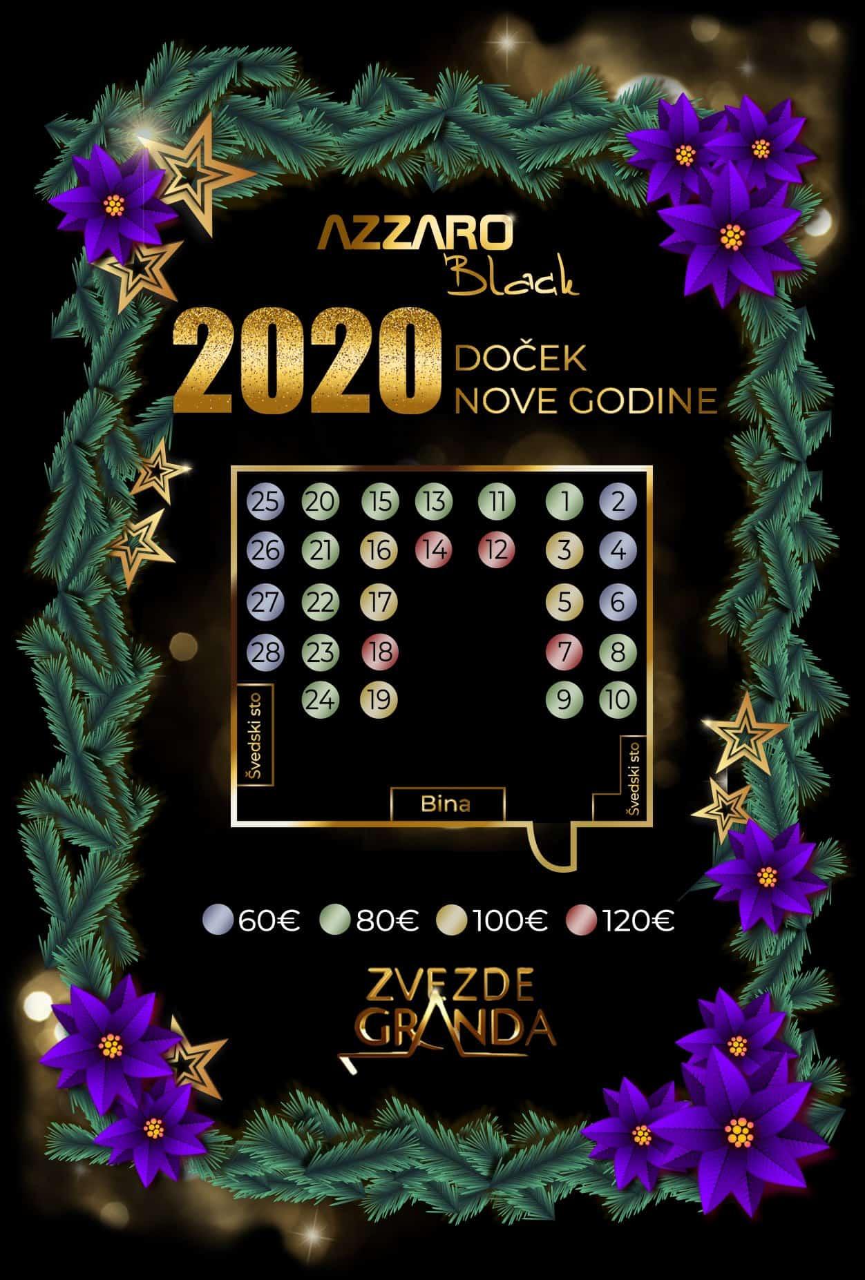 Docek Nove godine 2020 Beograd Restoran Jezero by Azzaro Ada Ciganlija mapa 2