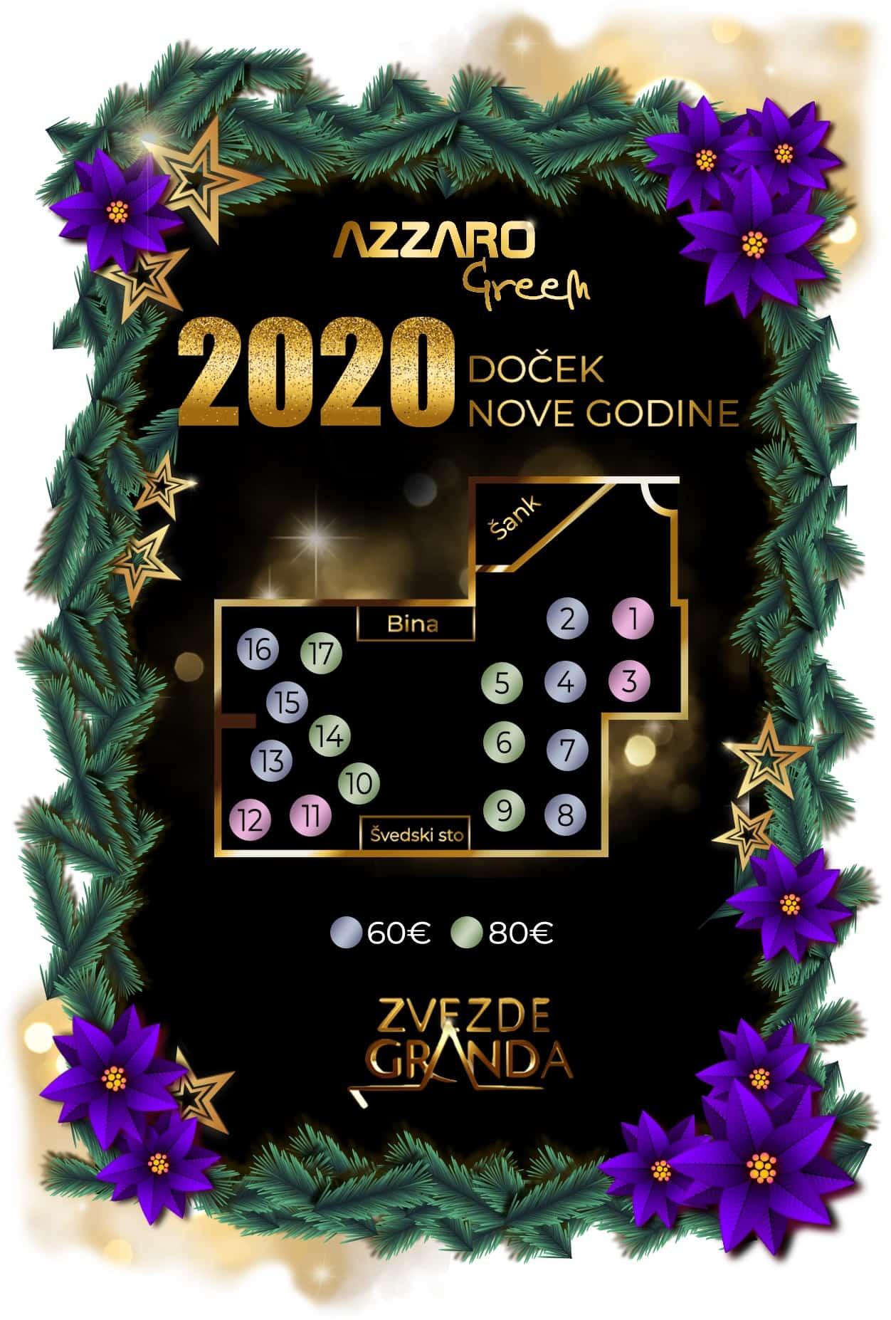 Docek Nove godine 2020 Beograd Restoran Jezero by Azzaro Ada Ciganlija mapa 3