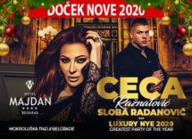 Docek Nove godine Beograd 2020 Hotel Majdan Baner