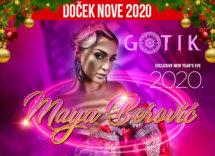 Docek Nove godine Beograd 2020 Klub Gotik baner