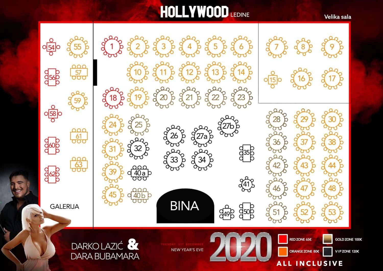 Hollywood Ledine Nova Godina Rezervacije Na 063 34 34 33