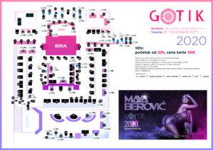 Docek Nove godine Beograd 2020 Klub Gotik mapa