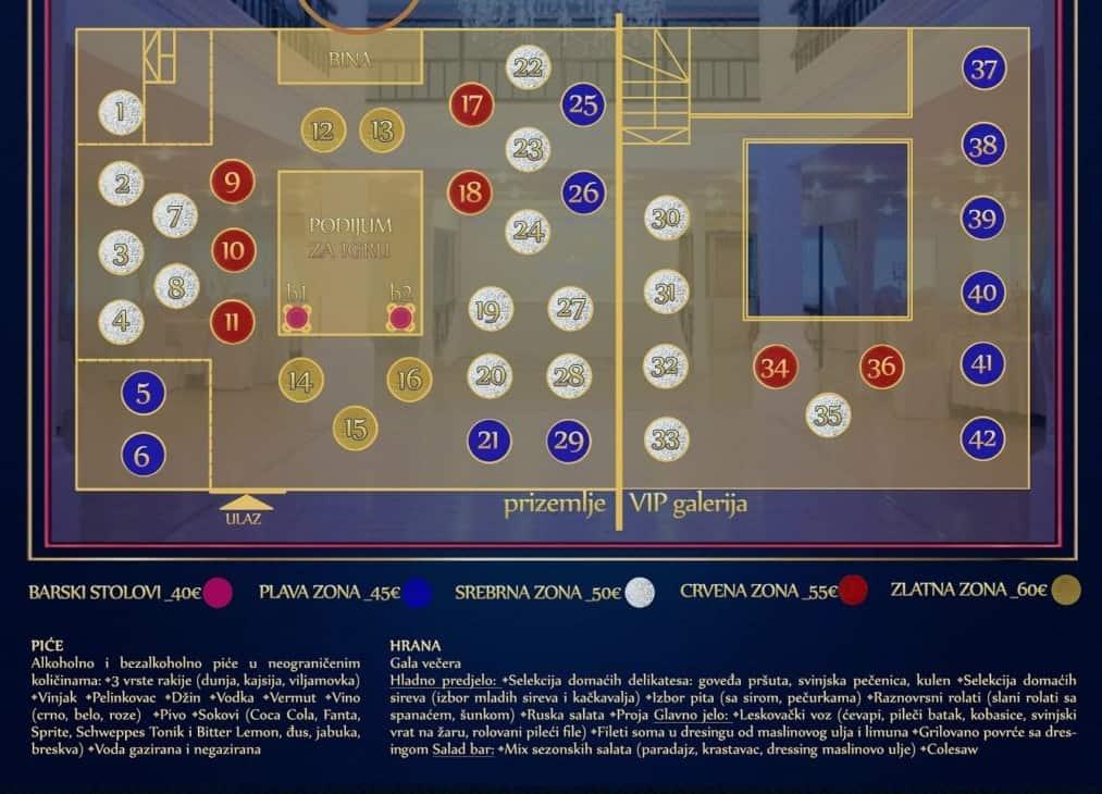 Docek Nove godine 2020 Beograd Aria Event Center mapa 1