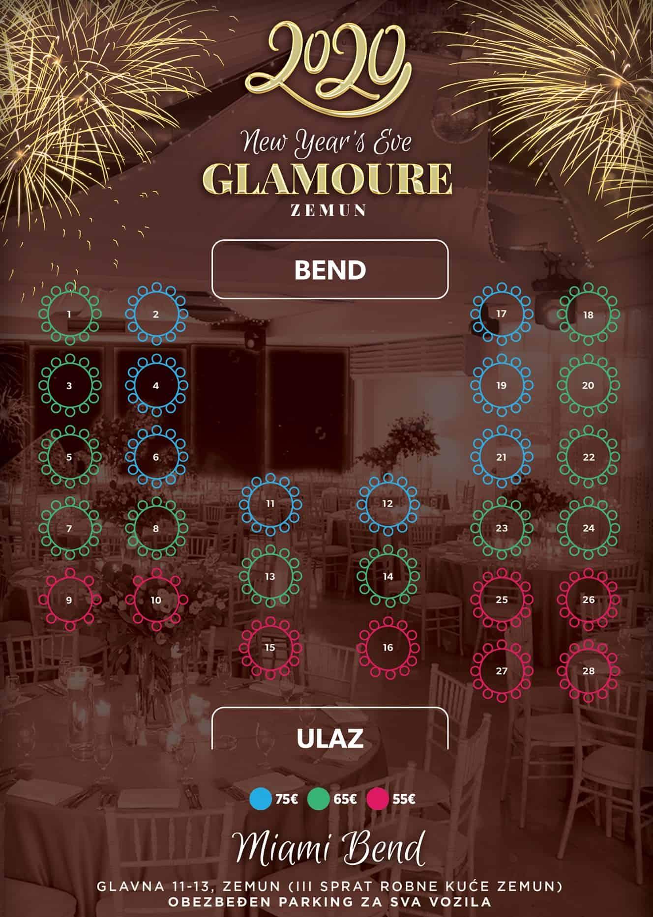 Docek Nove godine 2020 Beograd Glamoure Event Center mapa