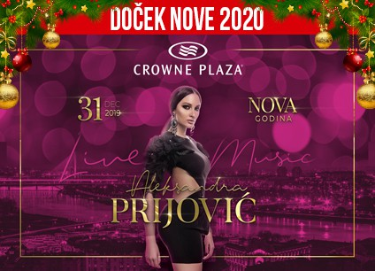 Docek Nove godine 2020 Beograd Hotel Crowne Plaza baner
